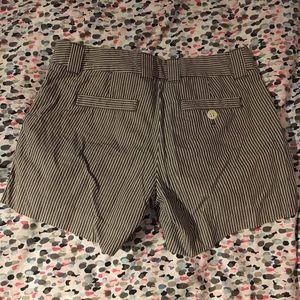 Jcrew pin stripe shorts